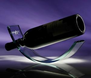 Jade crystal wine cradle